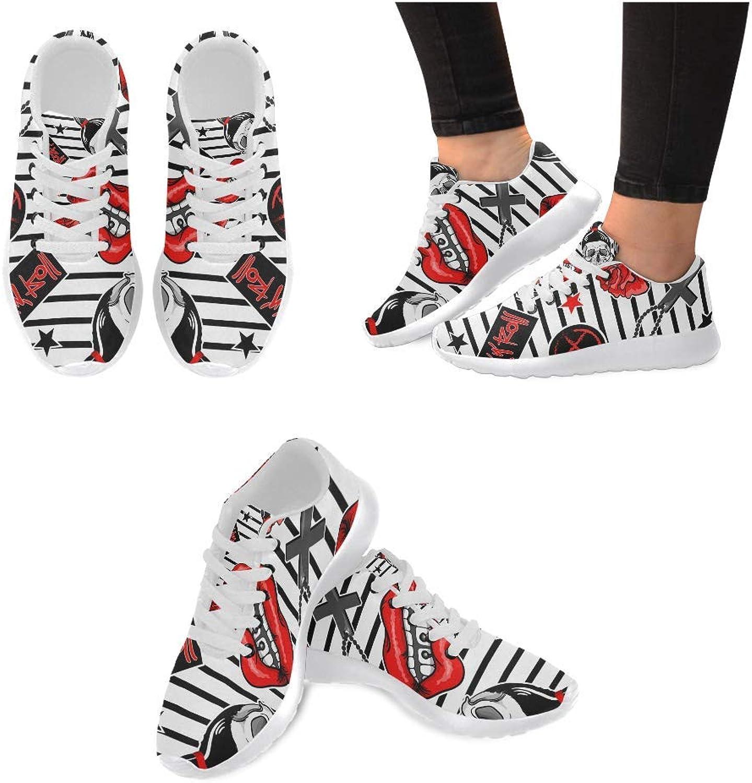 Women Lightweight Casual Sneaker Running shoes Fashion Patch Pattern Prints
