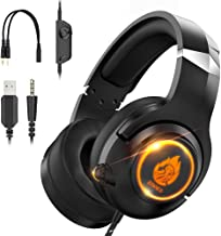 Znines Cuffie Gaming per PS4, PS5, Xbox One, Nintendo Switch, PC, Mac, Laptop, 3.5mm Over Ear Gaming Cuffie con microfono ...