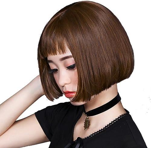 tomar hasta un 70% de descuento Longless Peluca de cabello cabello cabello corto pelo lacio pelo falsa cabeza de onda  Hay más marcas de productos de alta calidad.
