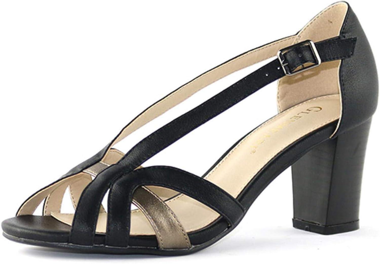 Brand Women Sandals Woman Peep Toe Buckle High Heels