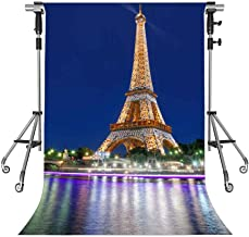 MEETS 5x7ft Eiffel Tower Backdrop Paris City Night Photography Background Themed Party Photo Booth YouTube Backdrop NANMT652