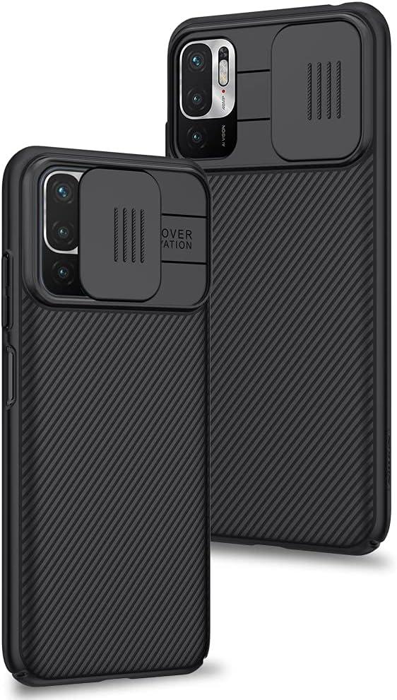 Funda para Xiaomi Redmi Note 10 5G / Xiaomi Poco M3 Pro 5G, Protección de la cámara Carcasa Cubierta de cámara Deslizante Proteger Ultra-Delgado Híbrida PC Anti-Choque Anti-arañazos - Negro