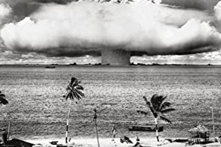 Pyramid America Atomic Bomb Mushroom Cloud Nuclear Weapon Explosion History B&W Photograph Photo Cool Wall Decor Art Print Poster 36x24