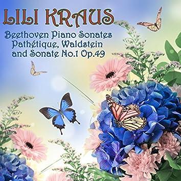 """Beethoven: Piano Sonatas """"Pathétique"""", """"Waldstein"""" and Sonata No. 1, Op. 49"""