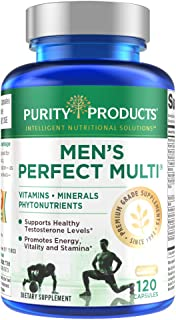 Men's Perfect Multi from Purity Products - Vitamins, Minerals and Phytonutrients - Supports Healthy Testosterone Levels an...