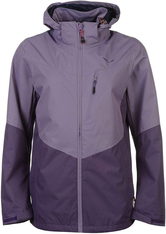 Official Brand Salewa Clastic Zweilagig Jacke Damen Lila überzug Wandern Outdoor Oberbekleidung