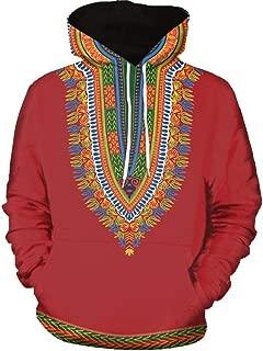 Skyyeox Unisex African Digital Printing Dashiki Tribal Long Sleeve Hoodie Sweatshirt