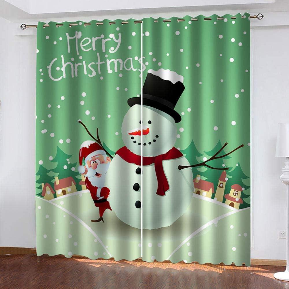 FFFSSS Blackout Curtains 3D Christmas Curt Printed Super Soft Max 84% OFF low-pricing
