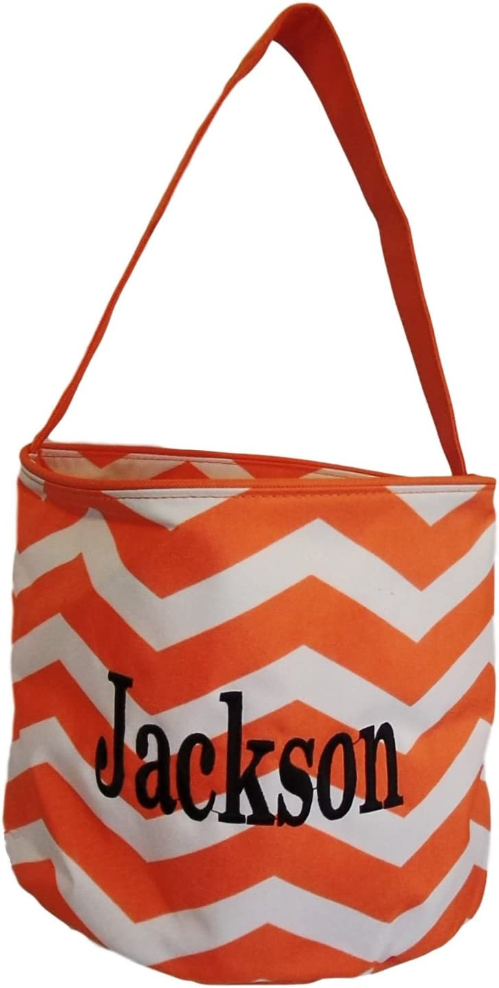 Personalized Halloween Trick or Treat Bag  Candy Tote Bag  Boos Hisses and Halloween Kisses Item 1609J