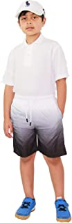 Kids Boys Shorts Fade Two Tone Black Summer Chino Short Knee Length Pants 3-13