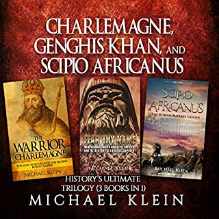 Charlemagne, Genghis Khan, and Scipio Africanus audiobook cover art