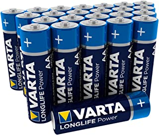 VARTA Longlife Power AA Mignon LR6 Battery (Pack of 24) Alkaline Battery – Made in Germany – Ideal for Toy Torch Controlle...