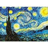 GuDoQi Puzzle 1000 Piezas Adultos Rompecabezas Noche Estrellada para Infantiles Adolescentes