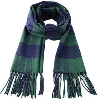 Kids Stylish Plaid Scarf Cashmere Feel Soft Warm Winter Scarves Wrap