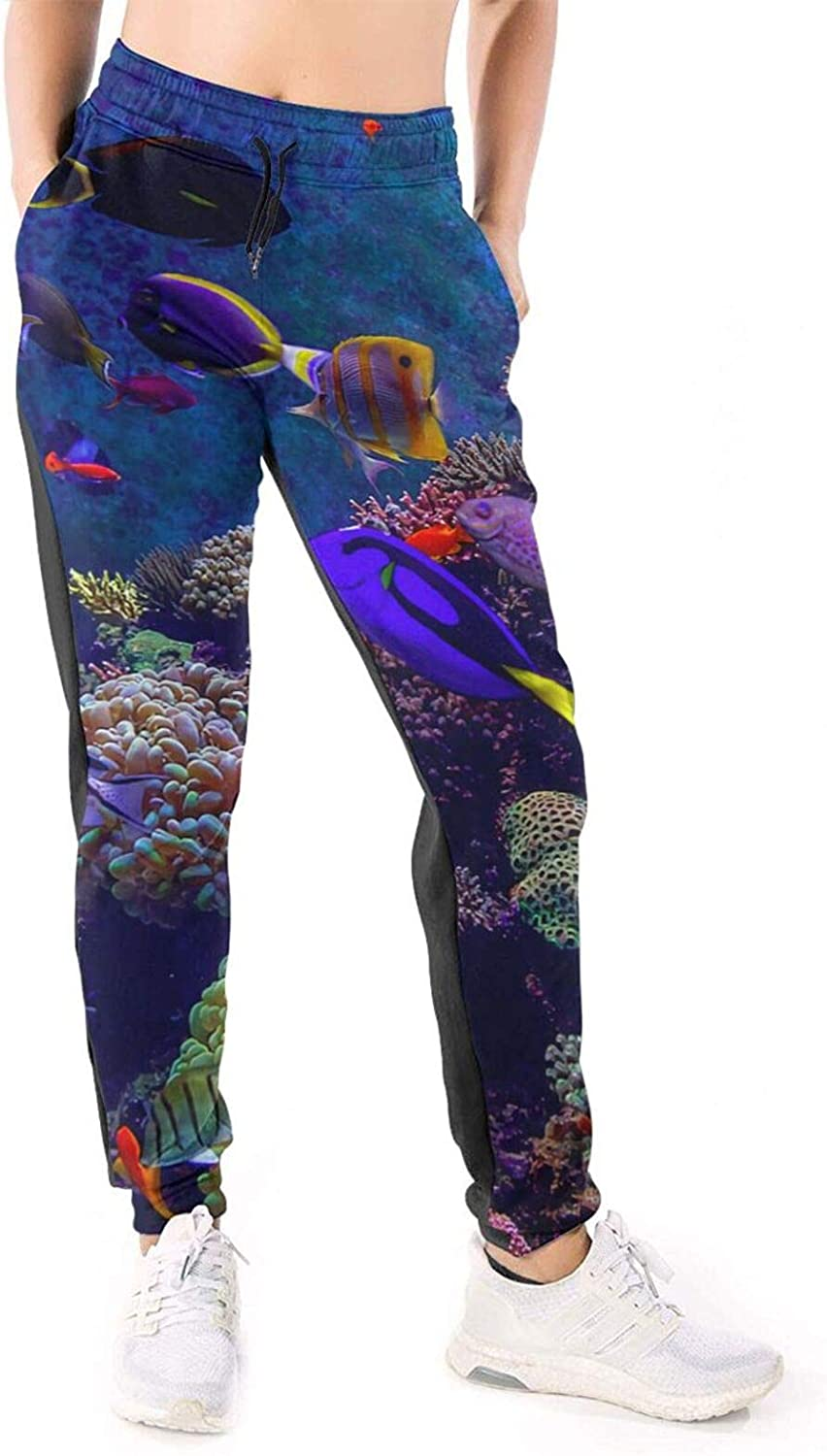 Women Joggers Pants Life Underwater Sea World Ocean Athletic Sweatpants with Pockets Casual Trousers Baggy
