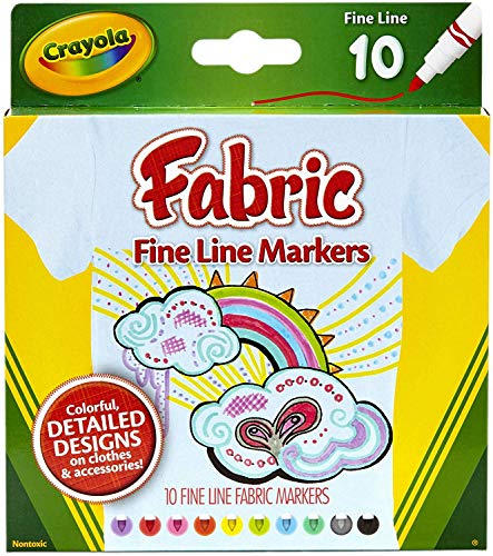 CRAYOLA 10 Pack Fabric Markers