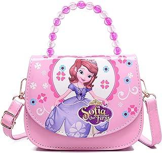 Kids Bags Crossbody Shoulder Bag for Girls, Cartoon Preschool Girls Backpack, Cute Mini Little Girls Purses Bags, PU Leath...
