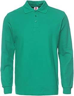 NeedBo Men's Long Sleeve Casual Solid Golf Polo Shirt