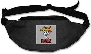 Fanny Pack For Women Men Danger Mouse Akira Penfold Flying Car Waist Bag Pouch Travel Pocket Wallet Bum Bag For Running Cycling Hiking Workout