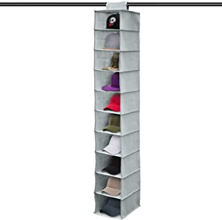 EEEKit Hat Rack, 10 Shelf Hanging Closet Hat Organizer for Hat Storage - Protect Your Caps & Keep Them in Great Condition - Save Space & Easy Hat Holder & Baseball Cap Organizer