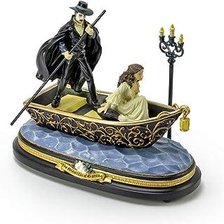 MusicBoxAttic Phantom of The Opera - Figura Decorativa, diseño de Viaje al Lago, más de 400 Opciones de canción, Metal, 410. Waltz of The Flowers