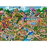 Becko US Jigsaw Puzzle 500 Piece Fun Puzzle for Adults and Families - Theme Park, Amusement Park