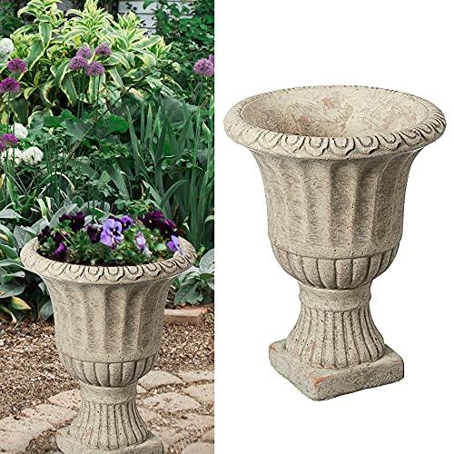 Amphore in cemento, design antico, altezza 20 cm, vaso per piante da giardino