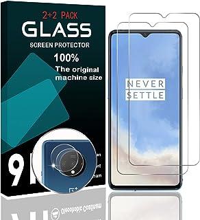 【2+2】OnePlus 7T ガラスフィルム 液晶保護フィルム (2枚) + レンズ保護フィルム (2枚) oneplus 7t フィルム 強化ガラス 日本旭硝子製 高透過率 硬度9H 3D 耐衝撃 撥油性 指紋防止 気泡ゼロ