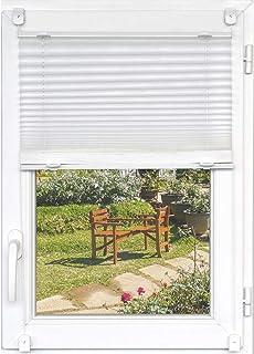 Estor Plegable Blanco translúcido para Puertas y Ventanas - Sin Necesidad de taladrar, Talla:90 x 150 cm