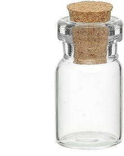 HooAMI Mini Glass Bottles with Corks Message Charm Kit Weddings Wish Jewelry 10pcs