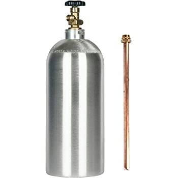 and Carry Handle New 35 lb CO2 Gas Cylinder with CGA320 Valve Siphon Tube