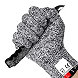 Cut Resistant Gloves Food Grade Level 5 Hand Protection,Kitchen Cut Gloves for Oyster Shucking,Fish Fillet Processing,Mandolin Slicing,Meat Cutting,Wood Carving (Medium)