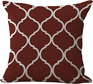 ChezMax Modern Simple Decorative Square Cushion Pillow for Living Room Maroon 17.7