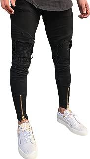Men's Ripped Skinny Jeans Slim Fit Denim Pencil Pants