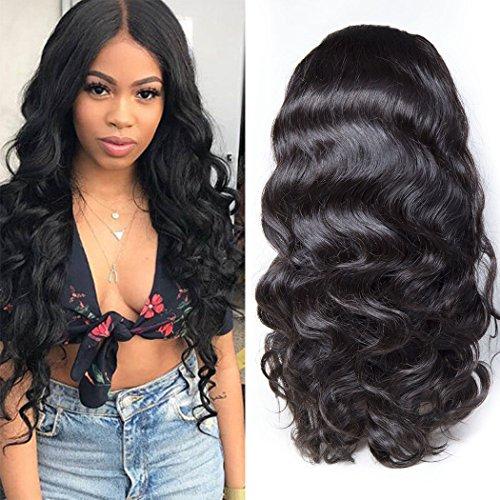 Maxine 360encaje peluca delantera con bebé pelo cuerpo Wave Virgin brasileño pelo 100% en estado natural cabello humano pelucas para las mujeres negras