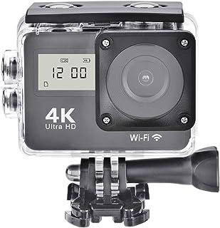 Zunate Camara Deportiva 4K Ultra HD WiFi,VideocáMara DV a Prueba de Agua con Control Remoto Toma Continua / 130º de ResolucióN de Gran Angular Gran Angular / 2.0 Pantalla LCD LTPS/Algunos Accesorios
