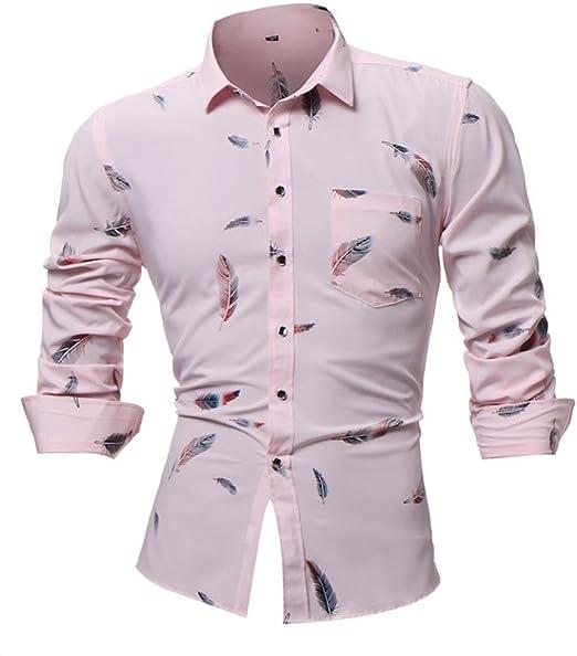 Camisas hombre Manga larga de los hombres casual camiseta ...