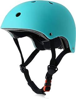 OUWOR Skateboard Helmet CPSC دارای گواهی سبک وزن قابل تنظیم ، چند منظوره برای دوچرخه سواری اسکوتر اسکیت ، 3 اندازه