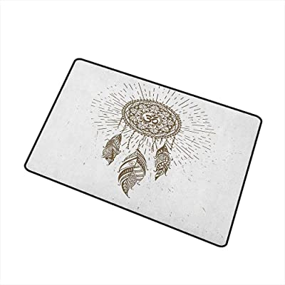 Kelace Door Mat Non-Slip Thick Black Red Tartan Doormat Water ...