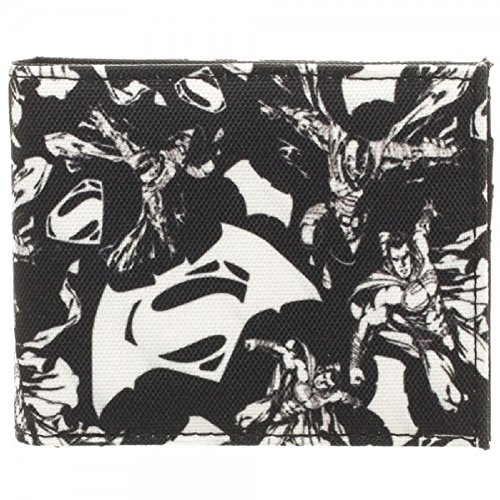 Batman v Superman: Dawn of Justice Black/White Bi-Fold Wallet