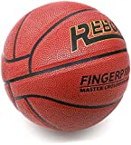 REBOIL Basketball – Patent Fingerprint Composite Leather and Bladder, Super Grip, Special Middle Tire Line, Official NCAA & NBA Size 29.5 and Weight.