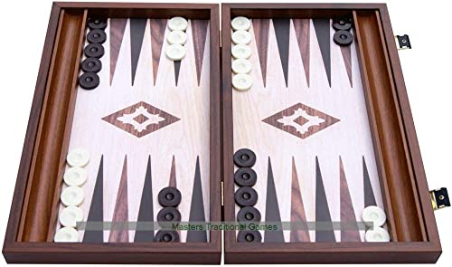Manopoulos Compact boisen Backgammon Set (with Side Racks)