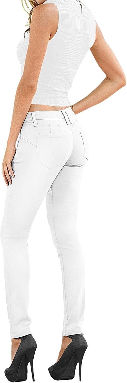 Lexi Women's Super Comfy Stretch Denim Skinny Jeans XPS37378SK White 14
