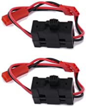 HobbyCrawler 2-Pack Switches Battery Receiver Kit Parts with JST Connector On/Off Charge Port HSP 02050 for 1/10 1/16 1/18 RC Car Boat Truck HPI Wltoys Himoto Redcat
