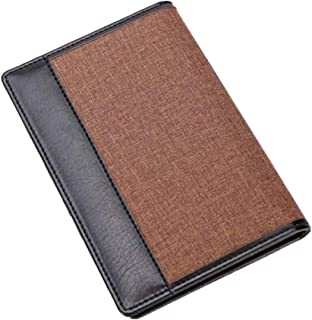Colorido Men Retro Bifold Faux Leather Short Wallet Passport Cards Holder Purse size Short (Coffee)
