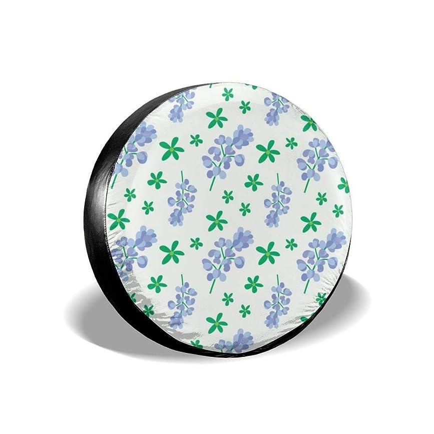 矛盾するトースト無法者タイヤカバー ブルーボンネット 青い花パターン タイヤ袋 日焼け止め 防塵 撥水 防腐食 汎用 品質保証 着脱しやすい ドライブ 贈り物