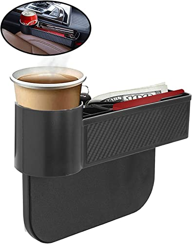 new arrival lebogner Car Seat Gap Filler, Between Seat Storage Box with A Cup Holder, Side of Center Console Organizer for Money, Cell Phone, Coins and online Keys, Crevice Pocket Caddy sale Catcher, Safer Driving online sale