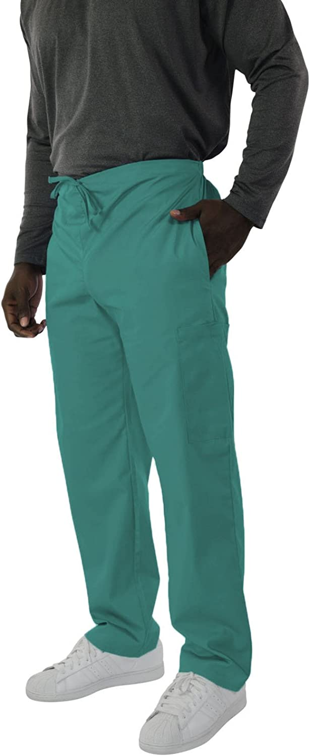 Spectrum Trouser/Cargo/Scrub Pants with Drawstring, Elastic Waist, 2 Side and One Back Pocket for Outdoor and Casual Wear - Large Cargo Pants Tall - Teal
