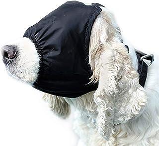 Yu-Xiang Dog Calming Cap Pet Eye Mask Nylon Shading Anxiety Mask Muzzle Dog Blindfold for Grooming Anti Bite Anti Car Sick...