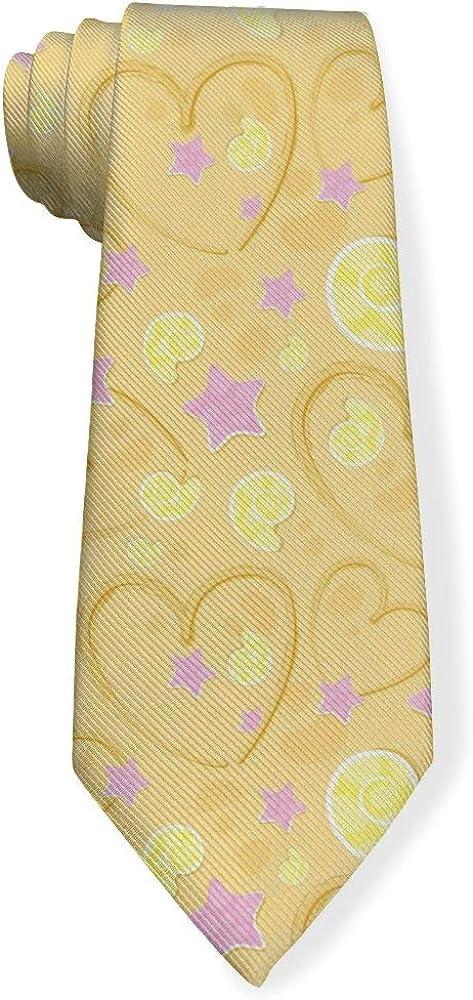 Love Starfish And Shells On The Sandy Beach Mens Classic Color Slim Tie, Men's Neckties, Fashion Boys Cravats